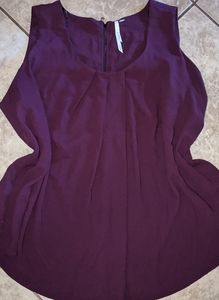 Bellatrix Size 3X Royal Purple Flowy Tank Top